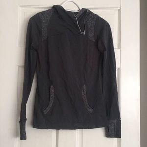 Lululemon Gray Pullover Quarter-Zip Sz 4